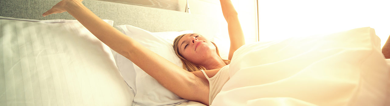 Woman Waking up in the Morning Image