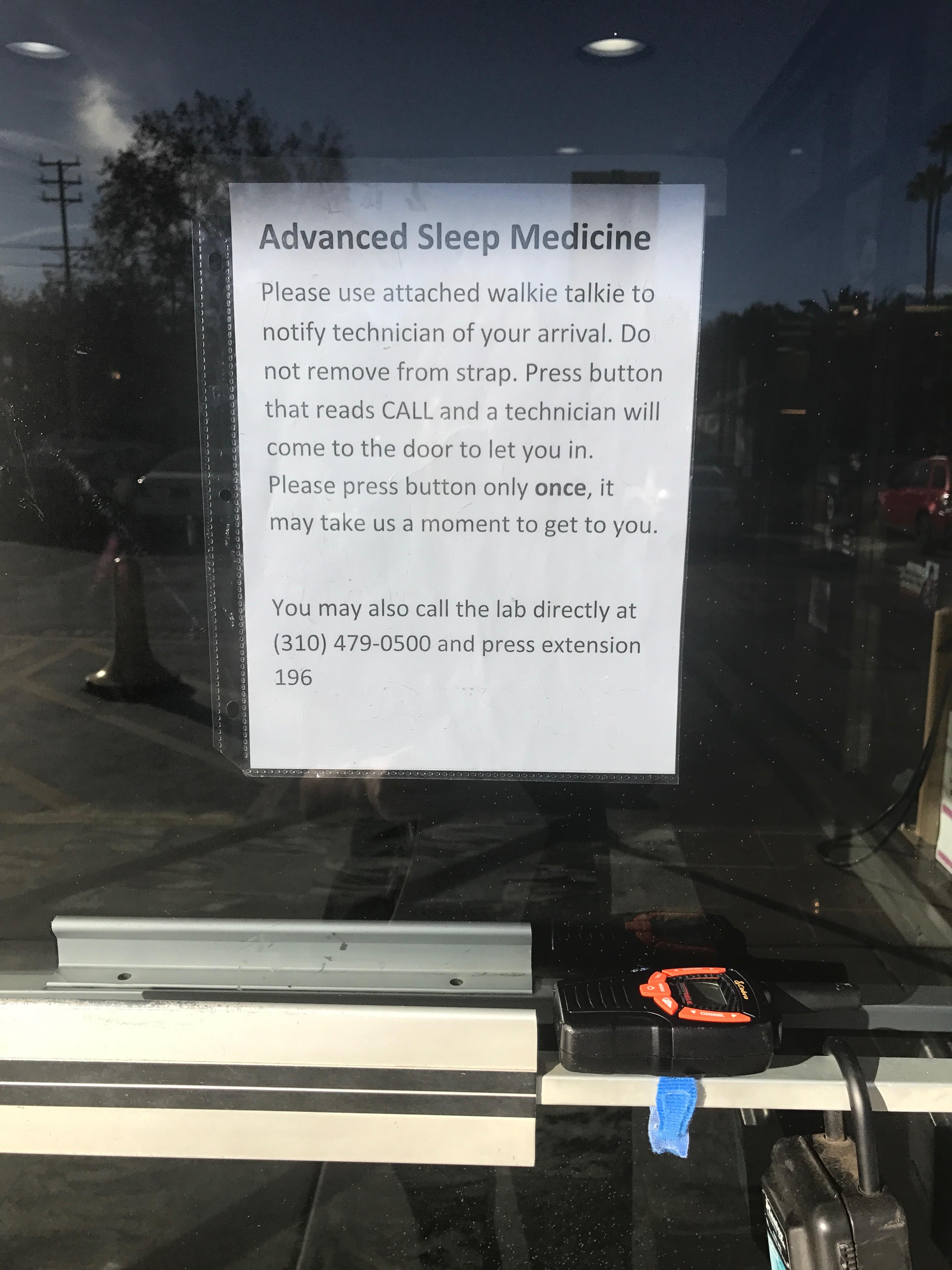 Encino sleep center - Advanced Sleep Medicine Services - entrance