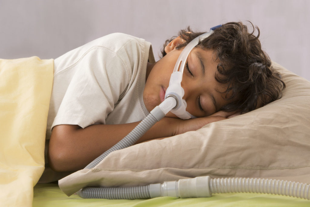 Child Using a CPAP Machine
