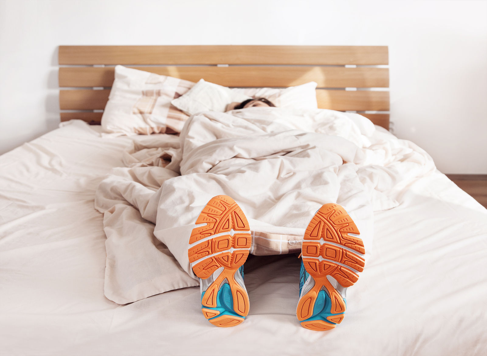 Runner Sleeping with Running Shoes Image
