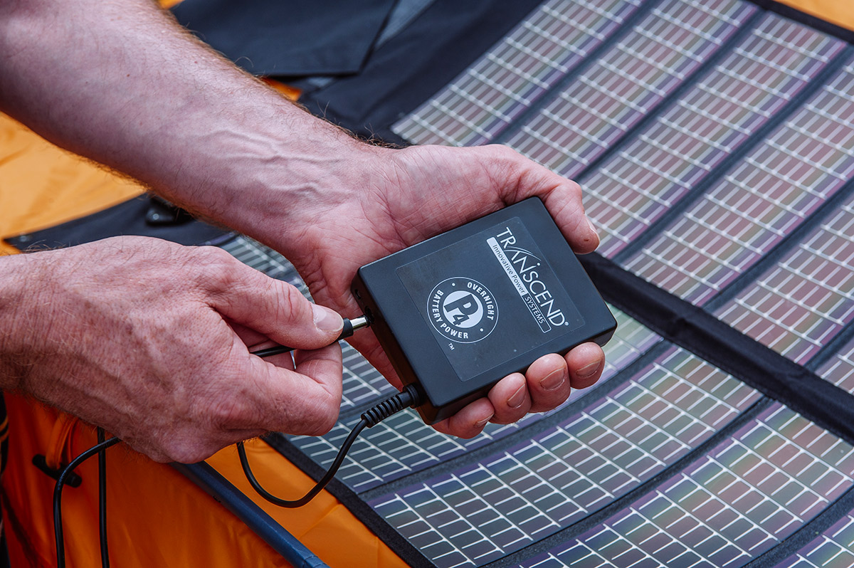 Transcend portable solar charger for travel cpap battery