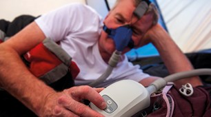 using Transcend travel cpap while camping