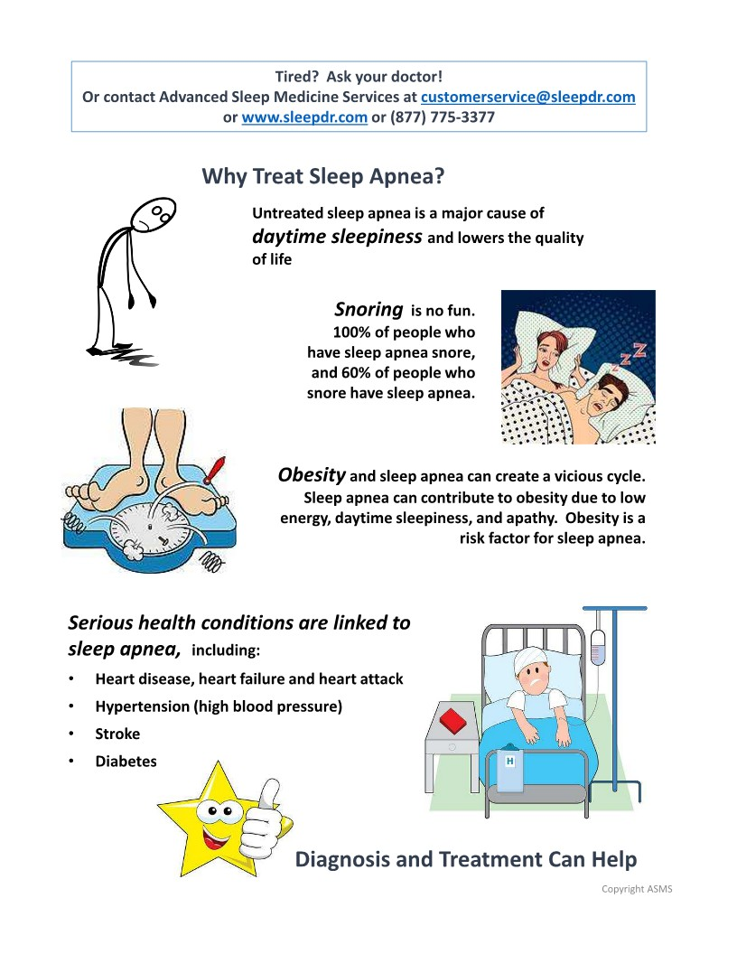 Advanced Sleep Medicine Services - Why Treat Sleep Apnea page 1