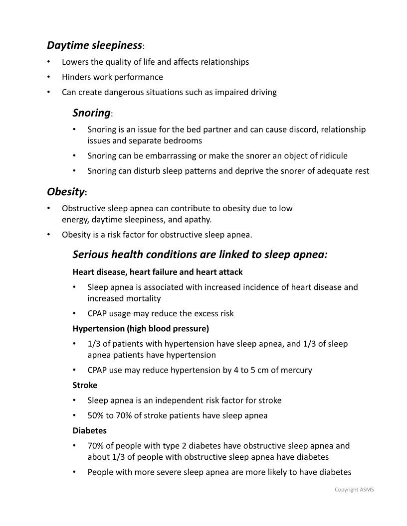 Advanced Sleep Medicine Services Why Treat Sleep Apnea Page 2